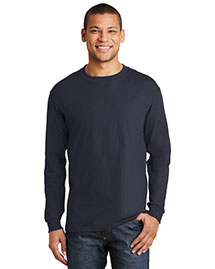 Hanes 5186 Mens Beefy 100% Cotton Long Sleeve T Shirt at bigntallapparel