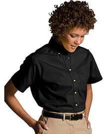 Edwards 5230 Women's Easy Care Short Sleeve Poplin Shirt at bigntallapparel