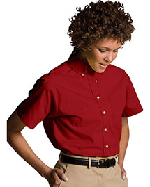 Edwards 5230 Women Easy Care Short Sleeve Poplin Shirt
