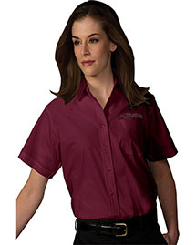 Edwards 5313 Women's Short Sleeve Value Broadcloth Shirt at bigntallapparel