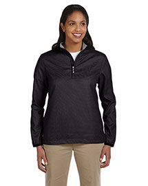 Ashworth 5358c Women Houndstooth Half-Zip Jacket