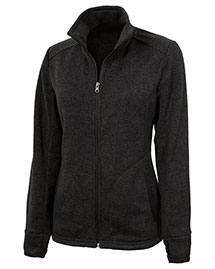 Charles River Apparel 5493 Women Heathered Fleece Sweater Jacket