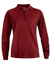 Edwards 5515 Women's Long Sleeve Pique Polo(No Pocket) at bigntallapparel