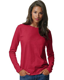 Hanes 5580 Women Comfortsoft Long Sleeve T-Shirt at bigntallapparel