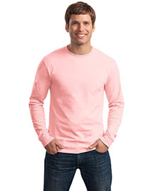 Hanes 5586 Men Tagless 100% Comfortsoft Cotton Long Sleeve T Shirt at bigntallapparel