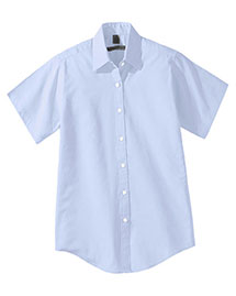 Edwards 5925 Women's Short Sleeve Pinpoin Oxford Shirt  at bigntallapparel