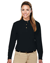 Tri-Mountain 602 Womens 60/40 Pique Long Sleeve Golf Shirt at bigntallapparel