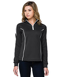 Tri-Mountain 603 Women 100% Polyester Mesh Textured 1/4 Zipper Pullover