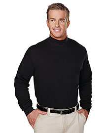 Tri-Mountain 620 Mens Cotton Interlock Mock Turtleneck at bigntallapparel