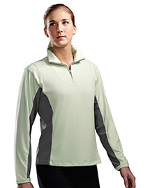 Tri-Mountain 621 Women Poly Ultracool 1/4 Zip Pullover Shirt