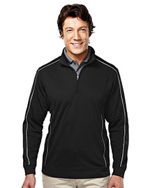 Tri-Mountain 627 Men 100% Polyester 1/4 Zip Ls Knit Shirt