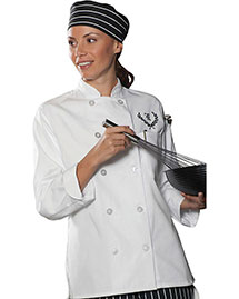 Edwards 6301 Women Casual 10 Button Chef Coat