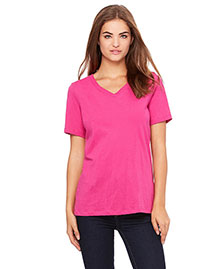 Bella 6405 Women WoMissy Jersey Short-Sleeve V-Neck T-Shirt