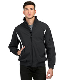Tri-Mountain 6430 Men 88% Polyester & 12% Spandex Bonded Stretch Woven Water Resistant Jacket