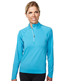 Tri-Mountain 657 Women 88% Polyester 12% Spandex Knit Quarter Zipper Jogging Pullover