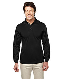 Tri-Mountain 658 Men Poly Ultracool Pique Long Sleeve Golf Shirt