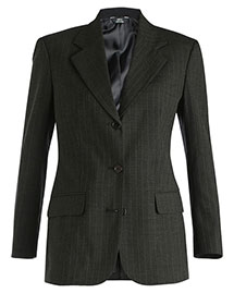 Edwards 6660 Women's Pinstripe Wool Blend Suit Coat at bigntallapparel