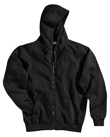 Tri-Mountain 690 Mens Cotton/Poly Sueded Finish Hooded Full Zip Sweatshirt at bigntallapparel