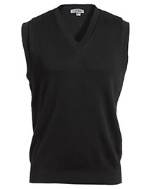Edwards 701 Men's Cotton Cashmere V-Neck  Vest  at bigntallapparel