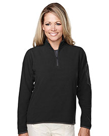 Tri-Mountain 7046 Womens 100% Polyester Fleece 1/4 Zipper Pullover at bigntallapparel