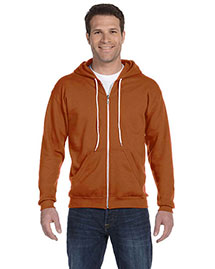 Anvil 71600 Men Ringspun Full-Zip Hooded Sweatshirt