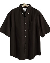 Tri-Mountain 718 Mens Easy Care Short Sleeve Twill Dress Shirt at bigntallapparel