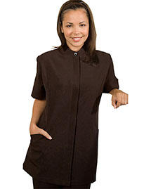 Edwards 7278 Women Hidden Placket Solid Tunic at bigntallapparel