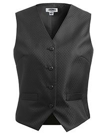 Edwards 7390 Women's Diamond Brocade Vest at bigntallapparel