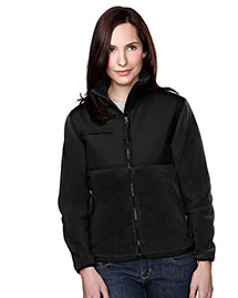 Tri-Mountain 7420 Womens Panda Fleece Jacket With Nylon Paneling at bigntallapparel