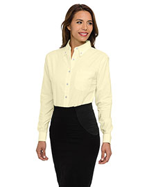 Tri-Mountain 742 Women Wo60/40 Stain Resistant Long Sleeve Oxford Shirt