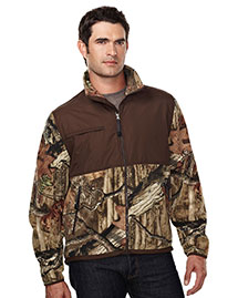 Tri-Mountain 7450C Men 100% Spun Polyester Anti Pilling Fleece Jacket