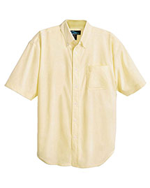 Tri-Mountain 748 Mens Stain Resistant Short Sleeve Oxford Dress Shirt at bigntallapparel