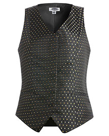 Edwards 7497 Women Fly Front Diamonds And Dots Vest