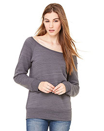 Bella 7501 Women Sponge Fleece Wide Neck Sweatshirt at bigntallapparel
