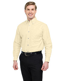 Tri-Mountain 750 Mens Stain Resistant Long Sleeve Oxford Dress Shirt at bigntallapparel