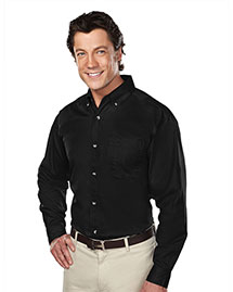 Tri-Mountain 770 Mens Stain Resistant Long Sleeve Twill Dress Shirt at bigntallapparel