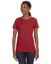 Anvil 780l Women Ringspun Midweight Mid-Scoop T-Shirt