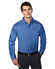Tri-Mountain 780 Men Wrinkle Free Pinpoint Oxford Dress Shirt