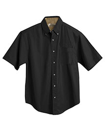 Tri-Mountain 788 Men Big And Tall Short Sleeve Peached Twill Dress Shirt