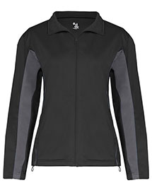Badger 7903 Ladies' Drive 100% Brushed Tricot Polyester Jacket at bigntallapparel