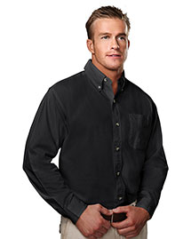 Tri-Mountain 790 Men Big And Tall Long Sleeve Peached Twill Dress Shirt