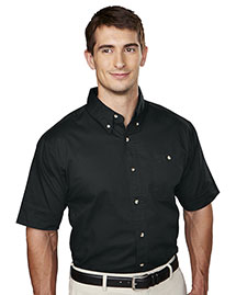 Tri-Mountain 808 Men Cotton Short Sleeve Twill Shirt