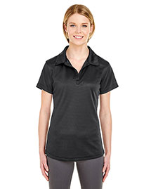 UltraClub 8220L Women WoCool & Dry Jacquard Stripe Polo