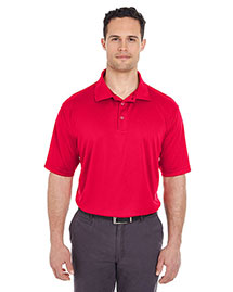Ultraclub 8220 Men Cool & Dry Jacquard Stripe Polo