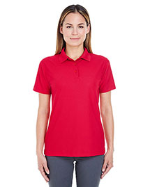 Ultraclub 8240L Women Cool & Dry Pebbleknit Polo at bigntallapparel