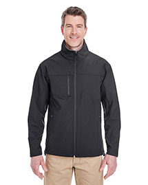 UltraClub 8280 Men's  Soft Shell Jacket With Cadet Collar
