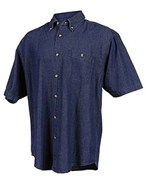 Tri-Mountain 828 Men Denim Short Sleeve Shirt at bigntallapparel