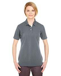 Ultraclub 8325L Women Platinum Performance Birdseye Polo With Tempcontrol Technology at bigntallapparel