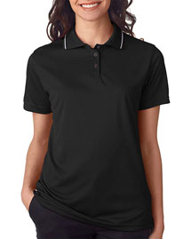 Ultraclub 8394l Women Polo With Tipped Collar