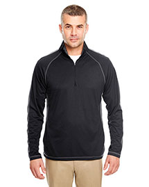 Ultraclub 8398 Men 100% Polyester 1/4 Zip at bigntallapparel